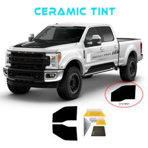 Computer Cut–CERAMIC–Tint Kit For Any 4 Door Truck—Front Windows, extra pattern, tools